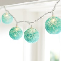 Woven Globe String Lights, Pool