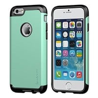 iPhone 6 Case, LUVVITT® ULTRA ARMOR iPhone 6 Case / Best iPhone 6 Case for 4.7 inch Screen Air | Double Layer Shock Absorbing iPhone 6 Case Cover (Does NOT fit iPhone 5 5S 5C 4 4s or iPhone 6 Plus 5.5 inch screen) - Black / Turquoise Teal Mint Green