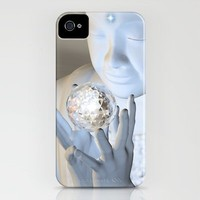 Om Mani Padme Hum (tranquil Blue Buddha) iPhone Case by DevineDayDreams-aka Desirée Glanville | Society6
