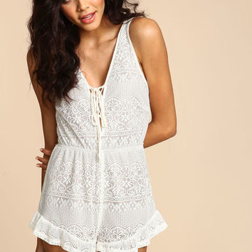 CROCHET DREAM RUFFLE ROMPER