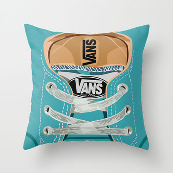 Cute blue teal Vans all star baby shoes iPhone 4 4s 5 5s 5c, ipod, ipad, pillow case and tshirt Throw Pillow by Three Second | Society6