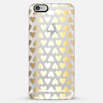 Faux Gold Hearts - on shine through transparent iPhone 6 Plus case by Perrin Le Feuvre   Casetify