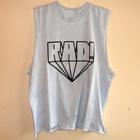Rad Cutoff Muscle Tank