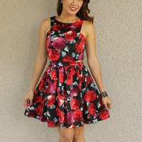 'Smell the Roses' Side Cutout Dress