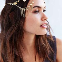 Coins + Chains Goddess Headwrap- Gold One