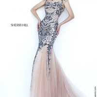 Sherri Hill 1939 Cap Sleeve Mermaid Prom Dress