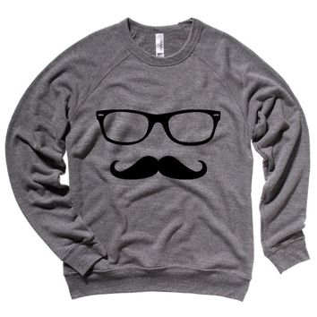 Hipster Cartoon Sketch Mens Sweatshirt
