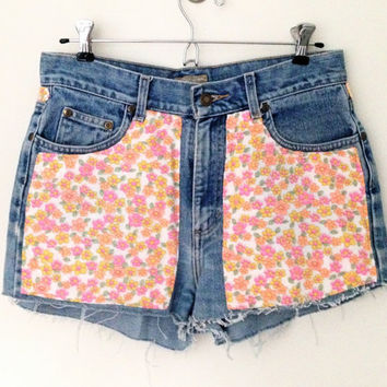 Floral Jersey Fabric Shorts by MFjewels on Etsy
