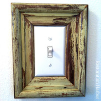 Reclaimed Wood New Orleans Light Switch Frame by restorationharbor