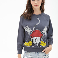 FOREVER 21 Mickey Mouse Graphic Sweatshirt Charcoal/Multi