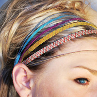 $12.00 multicolored rubbers headband by UTHAhats on Etsy
