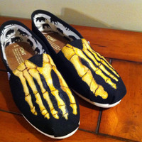 TOMS Shoe Skeleton Feet by AlphaxOmega on Etsy