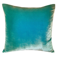 Kevin O'Brien Studio Ombre Decorative Pillow in Aqua