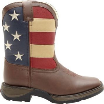 Lil Durango Boy's 8 in. Pull-On Flag Boot