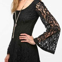 Staring At Stars Lace Bell-Sleeve Dress-