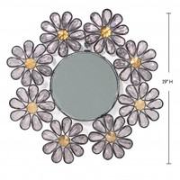 "Wake Up Frankie - Clear ""Crystal"" Flower Wall Mirror - 50% off! : Teen Bedding, Pink Bedding, Dorm Bedding, Teen Comforters"