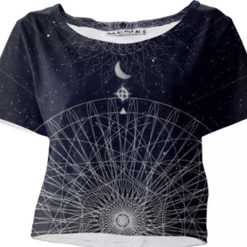 COSMIC crop top created by duckyb | Print All Over Me