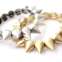 Spike Bracelet  Renegade in Gold Tone by theblackfeather on Etsy