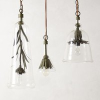Iron Petals Pendant Lamp by Robert Ogden Clear