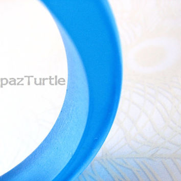 Cobalt Blue Resin Bangle Bracelet Jewelry , Rani Contemporary Modern TopazTurtle Australia Collection