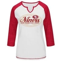 Majestic San Francisco 49ers Victory Is Sweet IV Colorblock Raglan Top - Women's