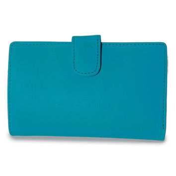 Teal Isabella International Leather Passport Wallet Available In Pink/Yellow/Green Jewelry-boxes: Teal