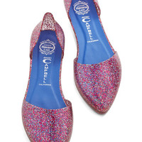 Jeffrey Campbell Vintage Inspired Confetti on the Dance Floor Flat in Pink