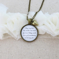 Lana Del Rey - Video Games Inspired Lyrical Quote Pendant Necklace