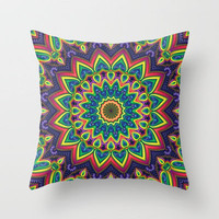 Colorful K Throw Pillow by Lyle Hatch | Society6