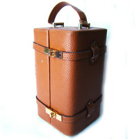 70sFrench COLETTE Caramel Beauty Train Case by SallyLuvRose
