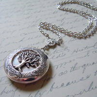 Yggdrasill (the World Tree) Elegant Gothic Lolita Locket:Silver Tree Locket