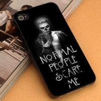 TATEVAN (Tate Langdon Evan Peters) American Horror Story - iPhone 4/4s,5,5s,5c and Samsung S2,S3,S4 - Plastic Rubber