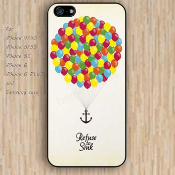 iPhone 5s 6 case colorful up Hot air balloon anchor phone case iphone case,ipod case,samsung galaxy case available plastic rubber case waterproof B401