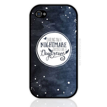 Nightmare Dressed Like A Daydream - Song Lyrics iPhone and iPod Case, iPhone 4/4S/5/5S/5C/6/6Plus, Samsung Galaxy (0820)