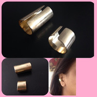 Gold rose gold nickel ear cuff in 3 sizes SML hammered or shiny finish