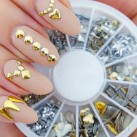 Gold Nail Decals ~ 120 Pieces ~ FLASH SALE! ~ Nail Art