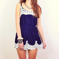 Navy Lovers Dress - 2 left