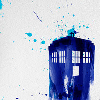Doctor Who TARDIS Art Print by Colin Capurso