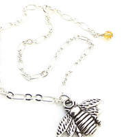 Silver Ankle Bracelet, Bumble Bee Jewelry, Honey Bee Jewelry, Bee Anklet, Silver Bee, Queen Bee, Bee Charm, Cute Anklet, Bug Charm