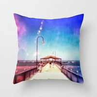 Pier Photo - A Stroll Along the Jetty Art Print Throw Pillow by Hey Harriet | Society6