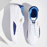 Puma Match Leather Low-Top Basic Sport Sneaker- Navy
