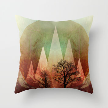 TREES under MAGIC MOUNTAINS I Throw Pillow by Pia Schneider [atelier COLOUR-VISION]