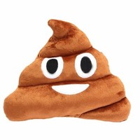 Etosell Stuffed Pillow Cushion Emoji Poop Shaped Smiley Face Doll Toy 1 PC