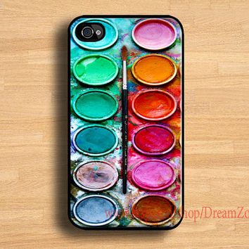 iPhone 4 case-Watercolor set,Watercolor painting Box, iphone 4s case , hard plastic case,iPhone case