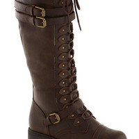 ModCloth Steampunk Channeling Classic Boot in Molasses