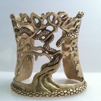 Beautifully Detailed Serpent Cuff by FlorencioDesigns on Etsy