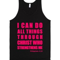 Inspirational Philippians 4:13 (Tank - Pink) - I Can Do All Things ...