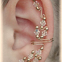 Ear Cuff - The Cadillac -  AB Crystal and 14K Gold Filled - SINGLE SIDE