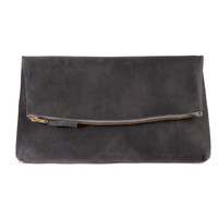 Lima Clutch Slate Grey Lined