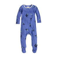BABY FOOTSIE COVERALL IN GLOW-IN-THE-DARK FLYING DISKS
